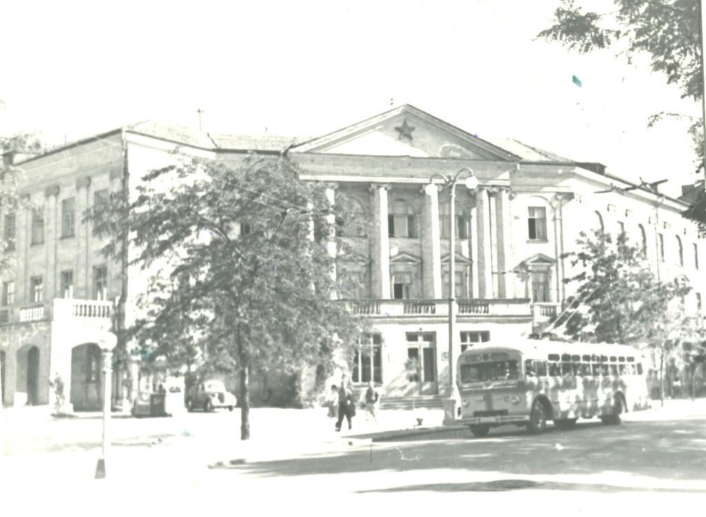 Здание Морской библиотеки. Севастополь, 1962 г. ГАГС, фонд фотодокументов, ед. хр. № 52.
