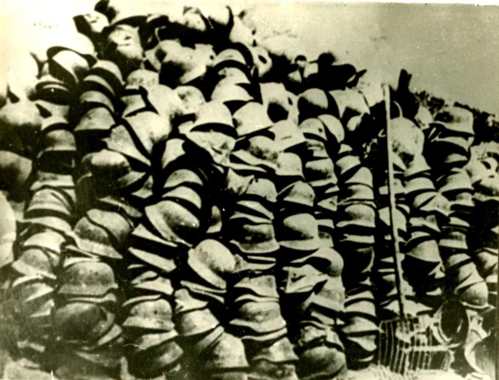 Каски немецко-фашистских захватчиков