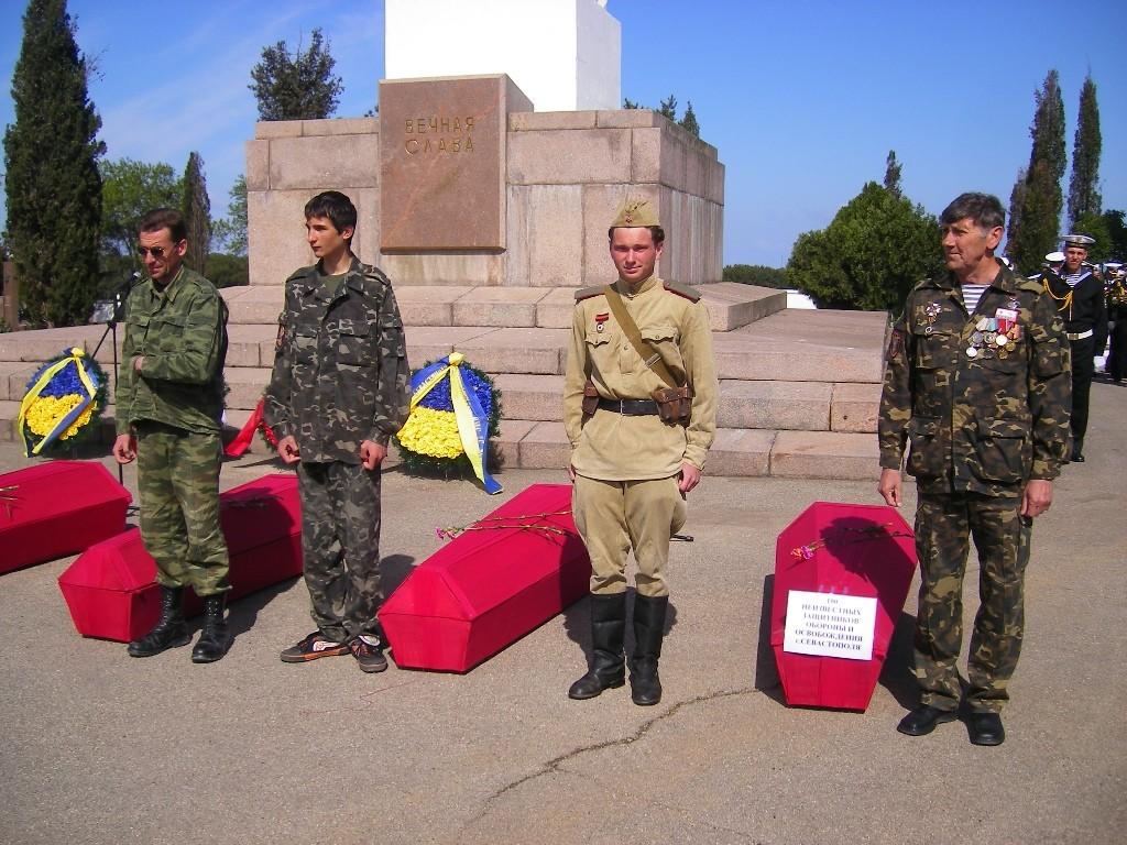 Торжественная церемония перезахоронения останков